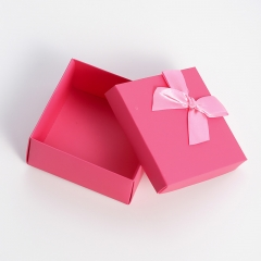 Pink Gift Box, Square Gift Box With Bowknot