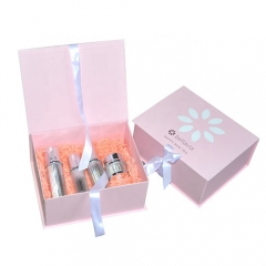 Luxury Pink Paper Gift Box Skin Care Cream Cosmetic Box