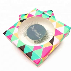 synthetic eyelash private label square colorful paper box